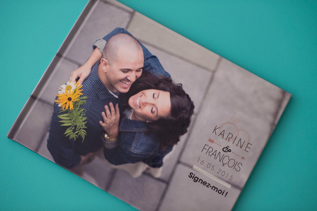 COVER - Livre pour mots des invités avec photos d'engagement