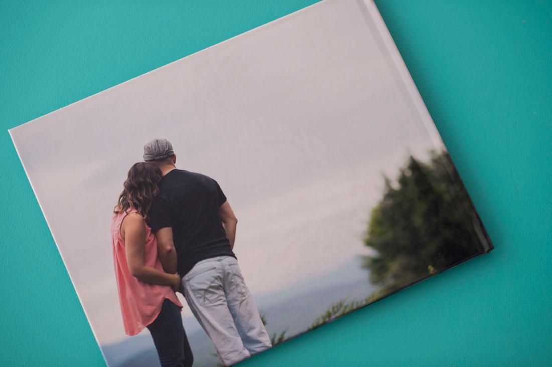 BACK - Livre pour mots des invités avec photos d'engagement